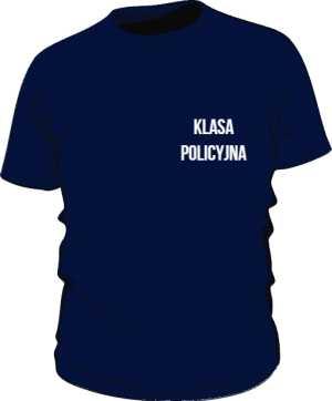 Koszulka granatowa Klasa Policyjna