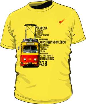 Koszulka męska kolor Trasa 43B
