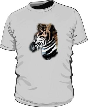 Zebra Szara Tshirt
