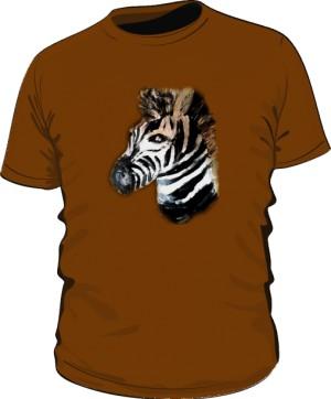 Zebra Brązowa Tshirt