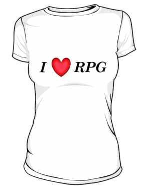 I love rpg Koszulka