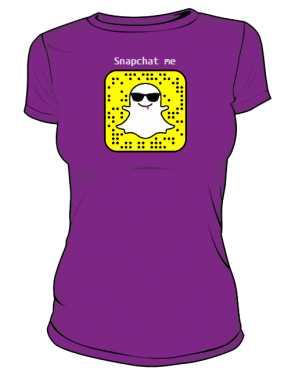 Snapchat tshirt damski Napisy