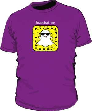 Snapchat tshirt męski Napisy