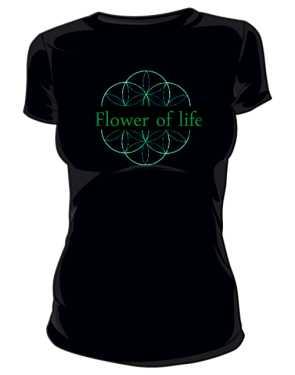 Kwiat życia koszulka damska