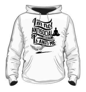 Bluza Biała Męska Anti Social