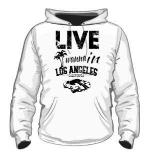 Bluza Biała Męska California Life