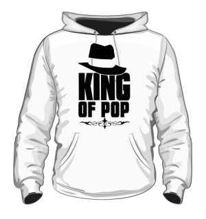 King Of Pop Bluza Męska biała