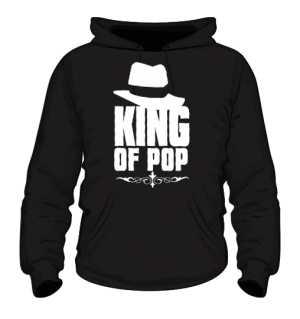 King Of Pop Bluza Męska czarna