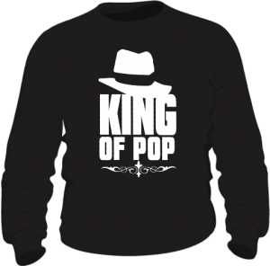 King Of Pop Bluza Męska czarna