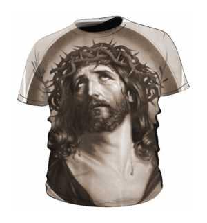 Jezus Vintage Art koszulka męska