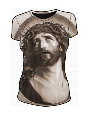 Jezus Vintage Art koszulka damska