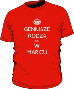 Geniusz Marzec Koszulka Męska Kolor