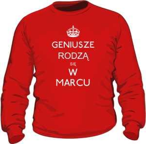 Geniusz Marzec Bluza Męska Kolor