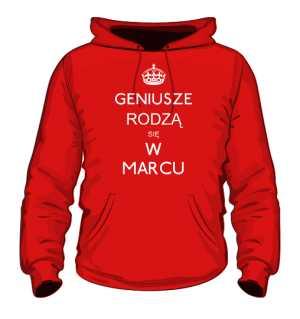 Geniusz Marzec Bluza z kapturem  Kolor