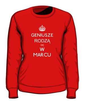 Geniusz Marzec Bluza Damska kolor
