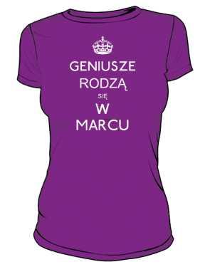 Geniusz Marzec Koszulka Damska kolor 2