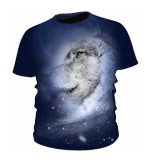 Wilk Kosmiczny Koszulka Męska