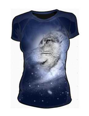 Wilk Kosmiczny Koszulka Damska