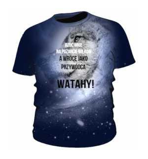 Wilk Kosmiczny  wer 2 Koszulka Męska