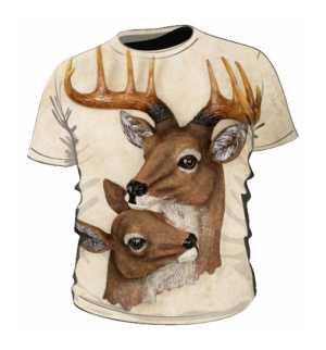 Deers Koszulka Kremowa Męska