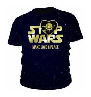 Mistrz Yoda STOP WARS Koszulka Męska EN