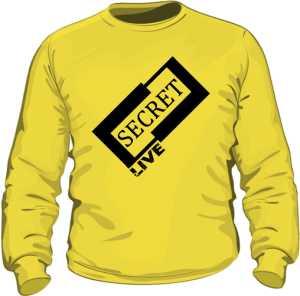 Żółta bluza z logiem