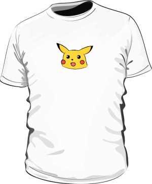 Confused Pikachu Koszulka Biała