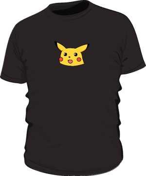 Confused Pikachu Koszulka Czarna