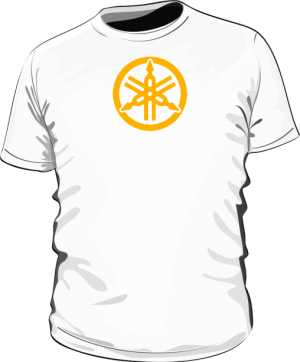Koszulka slim YAMAHA RYH gold