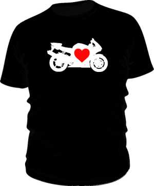 Koszulka classic motocykl serce
