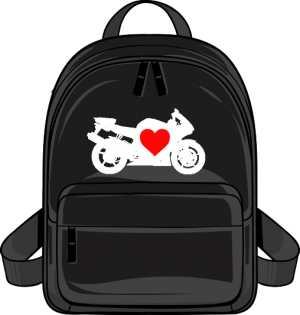 Plecak motocykl serce