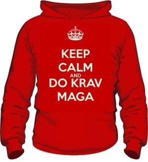 Bluza z kapturem Krav Maga czerwona