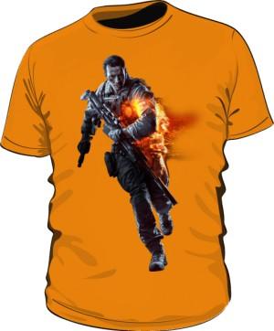 Koszulka BATTLEFIELD pomarańczowa