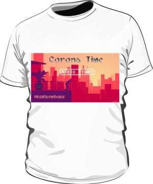 Corona Time 8bit Koszulka