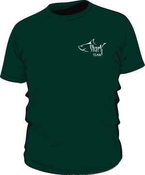 Koszulka zielona biale logo