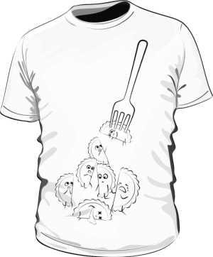 Pierogi Koszulka Biała