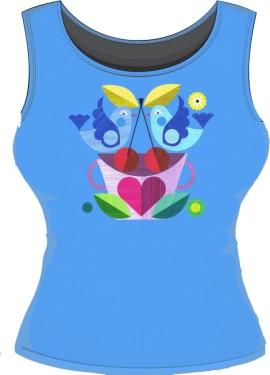 Koszulka damska bez rękakwów