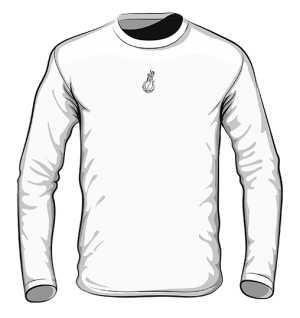 White black logo Long Sleeve