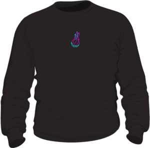 Bluza Neon Flame Logo