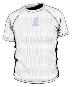 Sportowa Koszulka Neon Flame Logo