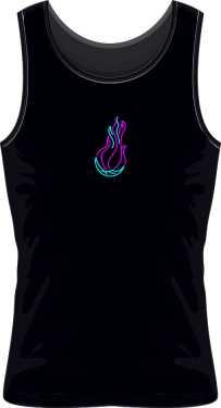 Koszulka bez rękawów Neon Flame Logo