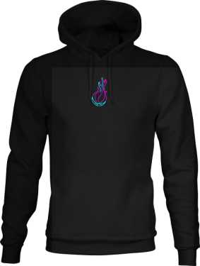 Premium Flame Logo Hoodie