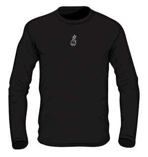 Black white logo Long Sleeve