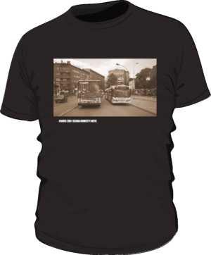 Czarna koszulka  Ikarus i Scania