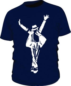 Koszulka Michael Jackson granatowa