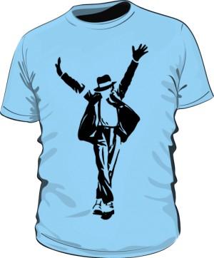 Koszulka Michael Jackson błękitna