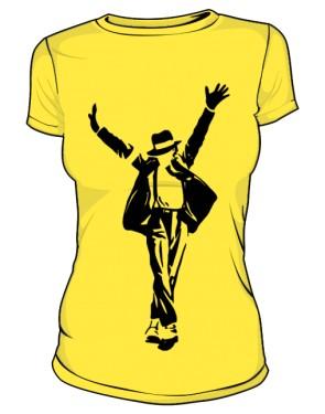 Koszulka Michael Jackson zółta