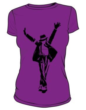 Koszulka Michael Jackson różowa