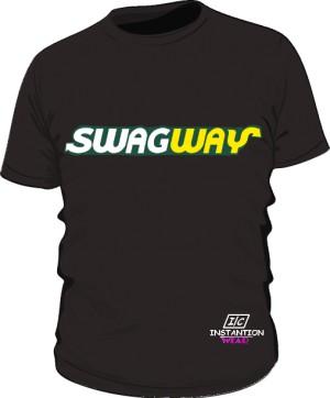 SWAGWAY Koszulka Męska Czarna