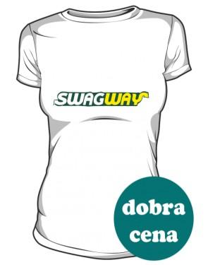 SWAGWAY Koszulka Damska Biała